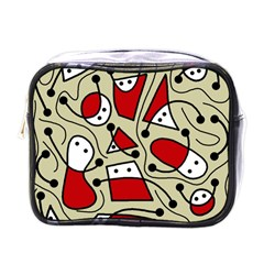Playful Abstraction Mini Toiletries Bags by Valentinaart