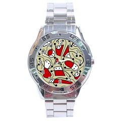 Playful Abstraction Stainless Steel Analogue Watch by Valentinaart
