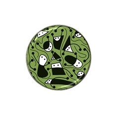Playful Abstract Art   Green Hat Clip Ball Marker (10 Pack)