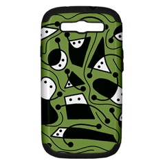 Playful Abstract Art   Green Samsung Galaxy S Iii Hardshell Case (pc+silicone) by Valentinaart