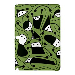 Playful Abstract Art   Green Samsung Galaxy Tab Pro 10 1 Hardshell Case by Valentinaart