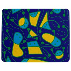 Playful Abstract Art   Blue And Yellow Jigsaw Puzzle Photo Stand (rectangular) by Valentinaart