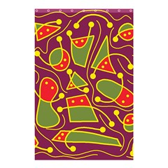 Playful Decorative Abstract Art Shower Curtain 48  X 72  (small)  by Valentinaart