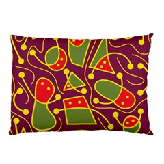 Playful Decorative Abstract Art Pillow Case (two Sides) by Valentinaart