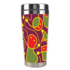 Playful Decorative Abstract Art Stainless Steel Travel Tumblers by Valentinaart