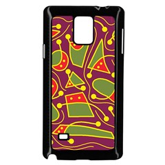 Playful Decorative Abstract Art Samsung Galaxy Note 4 Case (black) by Valentinaart