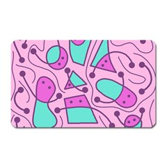 Playful Abstract Art   Pink Magnet (rectangular) by Valentinaart