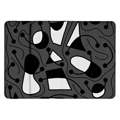 Playful Abstract Art   Gray Samsung Galaxy Tab 8 9  P7300 Flip Case