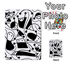 Playful Abstract Art   White And Black Playing Cards 54 Designs