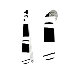 Playful Abstract Art   White And Black Neckties (one Side)  by Valentinaart