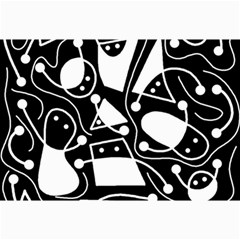 Playful Abstract Art   Black And White Collage Prints by Valentinaart