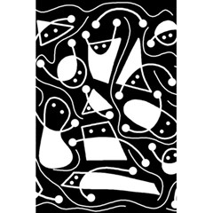 Playful Abstract Art   Black And White 5 5  X 8 5  Notebooks