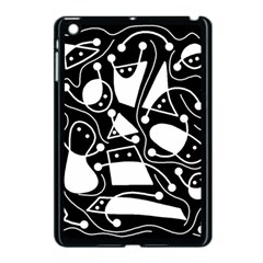 Playful Abstract Art   Black And White Apple Ipad Mini Case (black) by Valentinaart