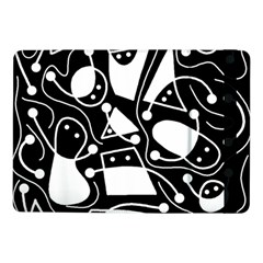 Playful Abstract Art   Black And White Samsung Galaxy Tab Pro 10 1  Flip Case by Valentinaart