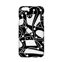 Playful Abstract Art   Black And White Apple Iphone 6/6s Hardshell Case by Valentinaart