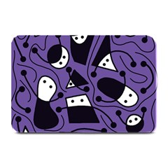 Playful Abstract Art   Purple Plate Mats by Valentinaart