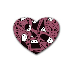 Playful Abstraction Heart Coaster (4 Pack)  by Valentinaart