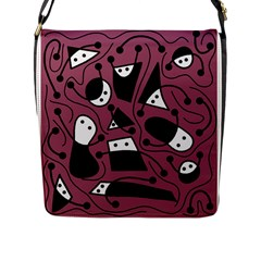 Playful Abstraction Flap Messenger Bag (l)  by Valentinaart