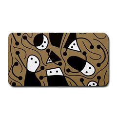 Playful Abstract Art   Brown Medium Bar Mats by Valentinaart