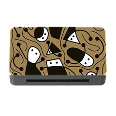 Playful Abstract Art   Brown Memory Card Reader With Cf by Valentinaart