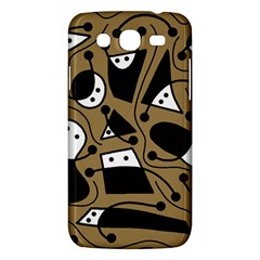 Playful Abstract Art   Brown Samsung Galaxy Mega 5 8 I9152 Hardshell Case  by Valentinaart