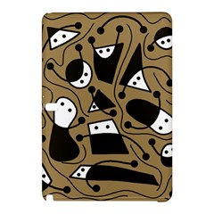 Playful Abstract Art   Brown Samsung Galaxy Tab Pro 10 1 Hardshell Case by Valentinaart