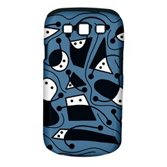 Playful Abstract Art   Blue Samsung Galaxy S Iii Classic Hardshell Case (pc+silicone) by Valentinaart