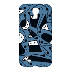 Playful Abstract Art   Blue Samsung Galaxy S4 I9500/i9505 Hardshell Case by Valentinaart