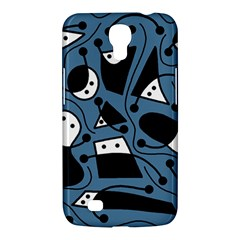 Playful Abstract Art   Blue Samsung Galaxy Mega 6 3  I9200 Hardshell Case by Valentinaart