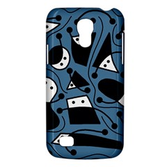 Playful Abstract Art   Blue Galaxy S4 Mini by Valentinaart