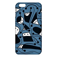 Playful Abstract Art   Blue Iphone 6 Plus/6s Plus Tpu Case by Valentinaart