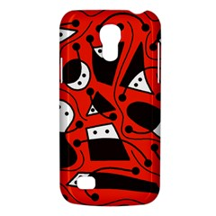 Playful Abstract Art   Red Galaxy S4 Mini by Valentinaart