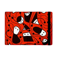 Playful Abstract Art   Red Ipad Mini 2 Flip Cases by Valentinaart
