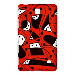 Playful Abstract Art   Red Samsung Galaxy Tab 4 (7 ) Hardshell Case  by Valentinaart