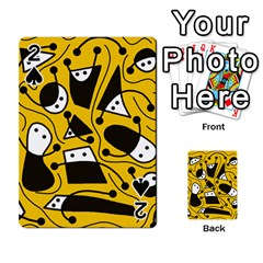 Playful Abstract Art   Yellow Playing Cards 54 Designs