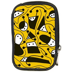 Playful Abstract Art   Yellow Compact Camera Cases