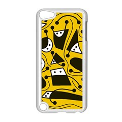 Playful Abstract Art   Yellow Apple Ipod Touch 5 Case (white) by Valentinaart