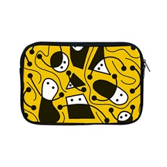 Playful Abstract Art   Yellow Apple Ipad Mini Zipper Cases by Valentinaart