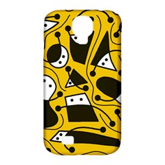 Playful Abstract Art   Yellow Samsung Galaxy S4 Classic Hardshell Case (pc+silicone) by Valentinaart