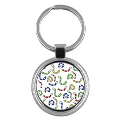 Colorful Worms  Key Chains (round)  by Valentinaart