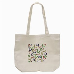 Colorful Worms  Tote Bag (cream) by Valentinaart