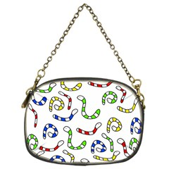 Colorful Worms  Chain Purses (one Side)  by Valentinaart