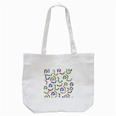 Colorful Worms  Tote Bag (white) by Valentinaart