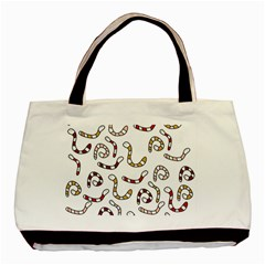 Cute Worms Basic Tote Bag (two Sides) by Valentinaart