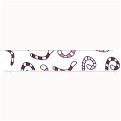 Purple Worms Small Bar Mats by Valentinaart