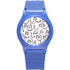 Purple Worms Round Plastic Sport Watch (s) by Valentinaart
