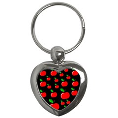 Red Apples  Key Chains (heart)  by Valentinaart