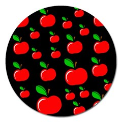 Red Apples  Magnet 5  (round) by Valentinaart