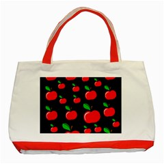 Red Apples  Classic Tote Bag (red) by Valentinaart