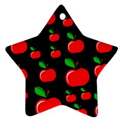 Red Apples  Star Ornament (two Sides)  by Valentinaart